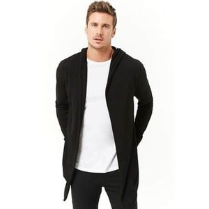 New Forever21 Men Black Cardigan Sweater Cotton